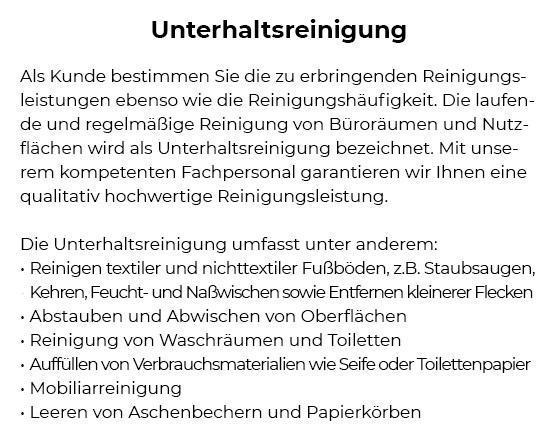 Unterhaltsreinigung für  Bönnigheim